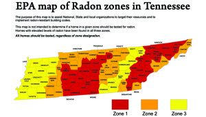 Radon Map in Tennessee